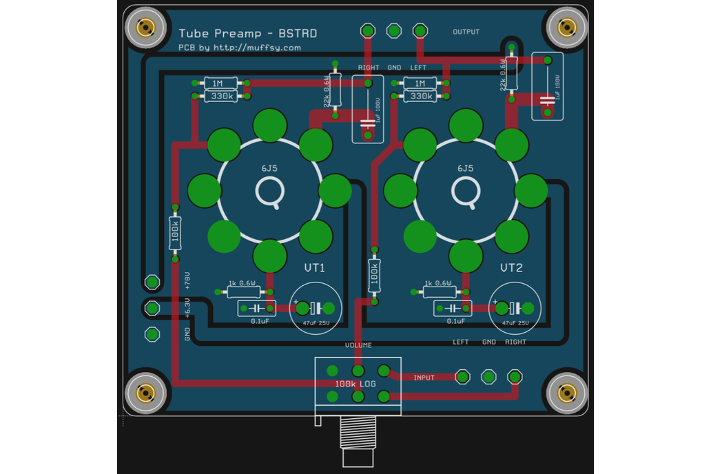 The Muffsy BSTRD - Class A Tube Preamp PCBs 5