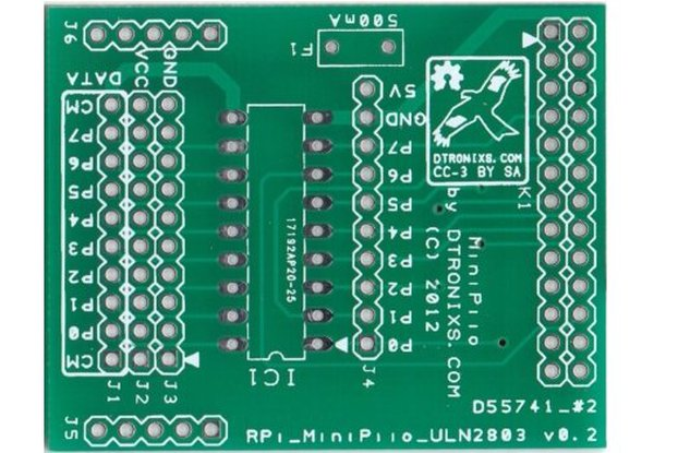 Raspberry PIIO - ULN2803 GVS board (PCB only)