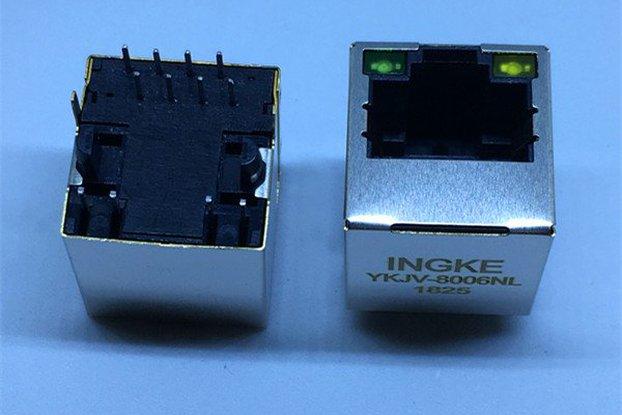 SI-46001-F 1 Port Vertical  RJ45 Magnetic Jacks