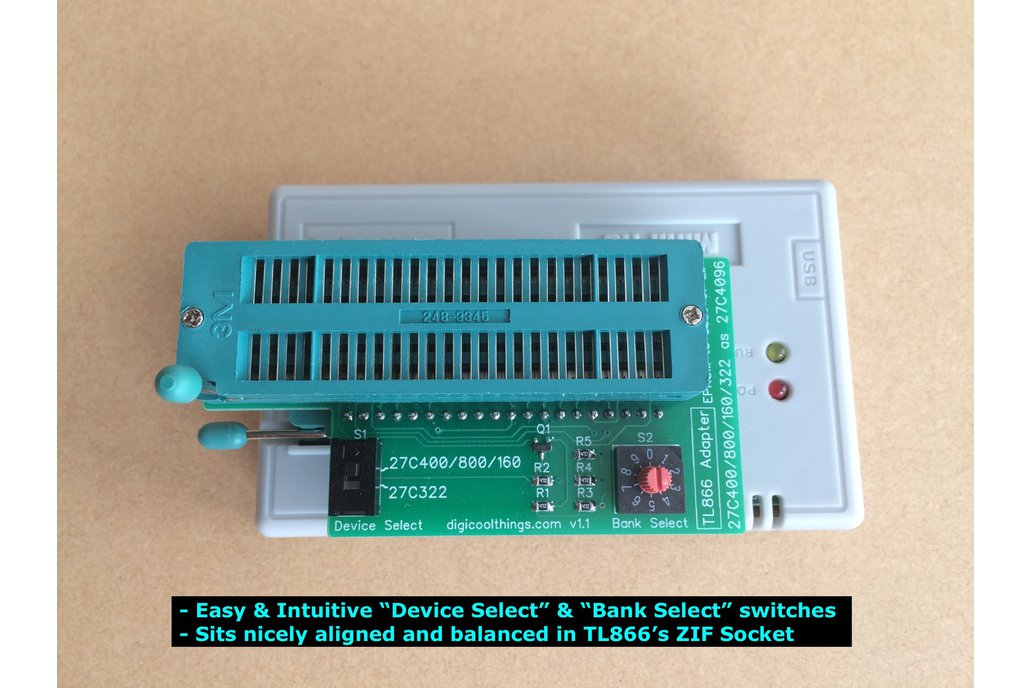 TL866 Adapter for 27C322 & 27C400 /800 /160 EPROMs 4