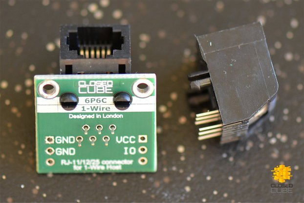 ClosedCube RJ25 6P6C Breakout for OneWire Network