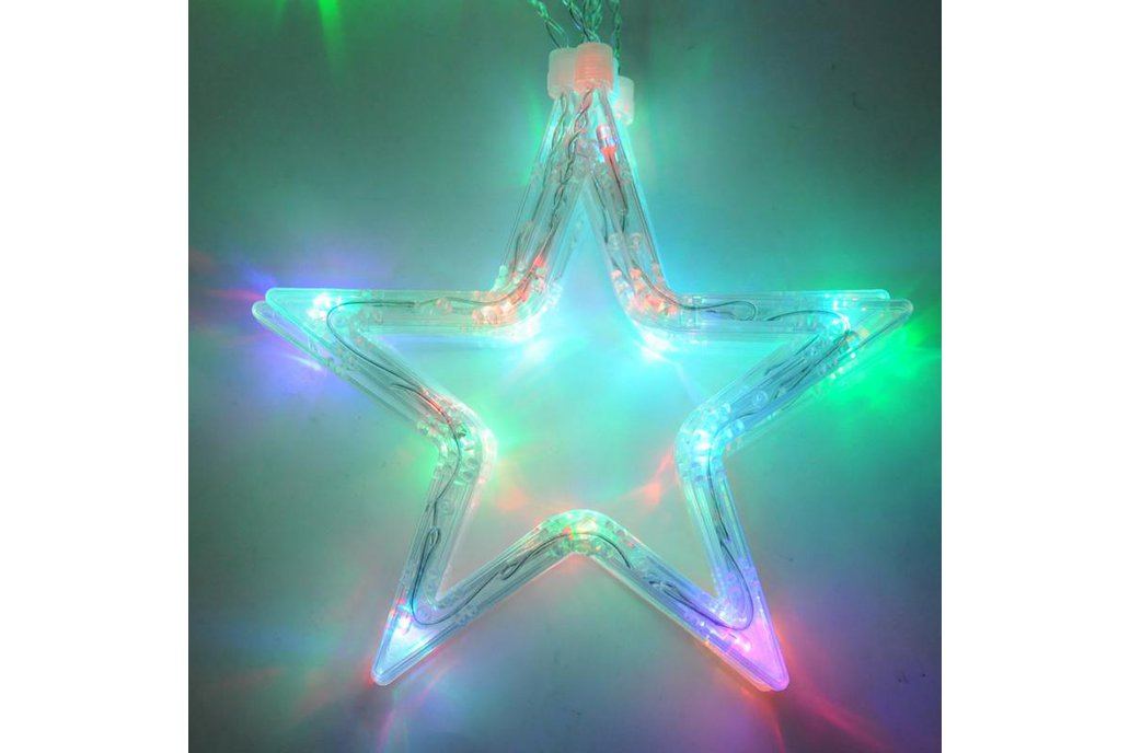 Christmas Lights Fairy Star LED Curtain String 14
