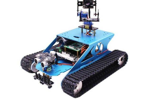 Tank Robot Kit with AI Vision for Raspberry Pi