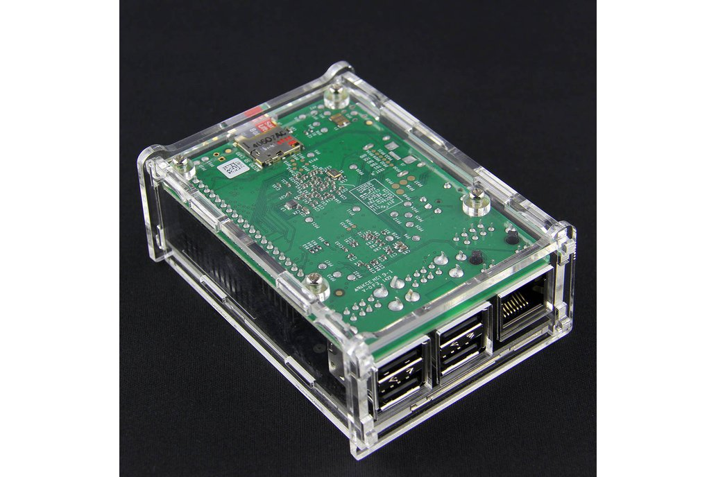 Transparent Acrylic Case TFT Screen Raspberry Pi B 4