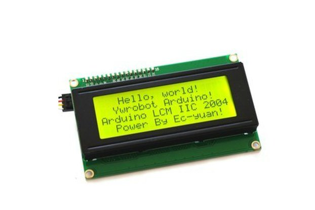 5V Yellow-Green LCD Display (IIC/I2C 2004)
