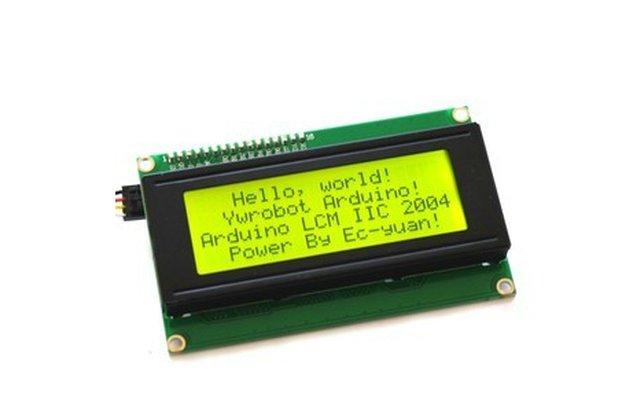 5V Yellow-Green LCD Display (IIC/I2C 2004)