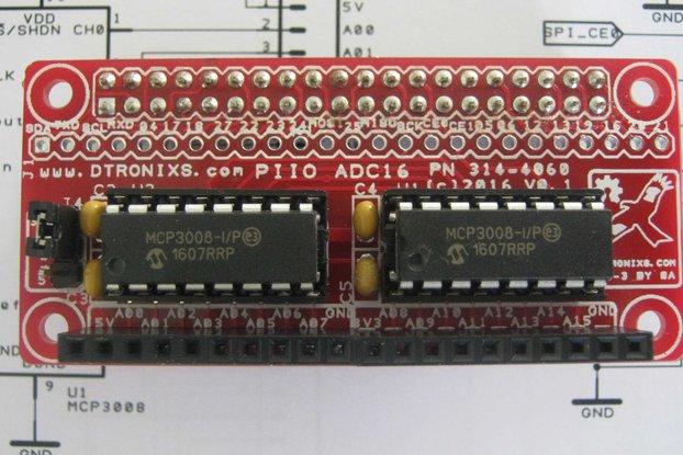 Raspberry Pi Zero - PIIO ADC16 16-ch Analog