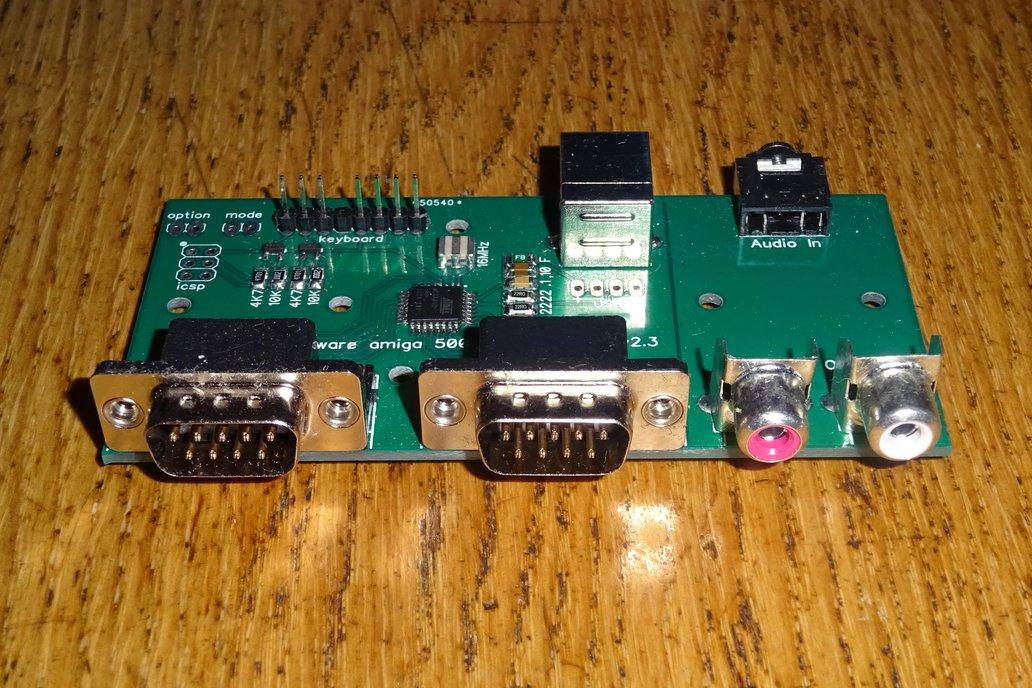 USB conversion kit for Amiga 500 keyboard 2