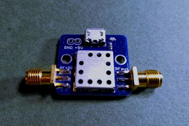 1575 MHz GPS L1 Band Pass Filter w/ BIAS-TEE +3.3V