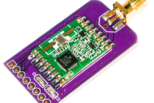 Slim RFM69HW Wireless Breakout Board - 1km+ range