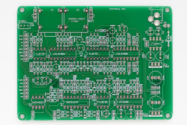 Shruthi LP2 + Delay Filter PCB