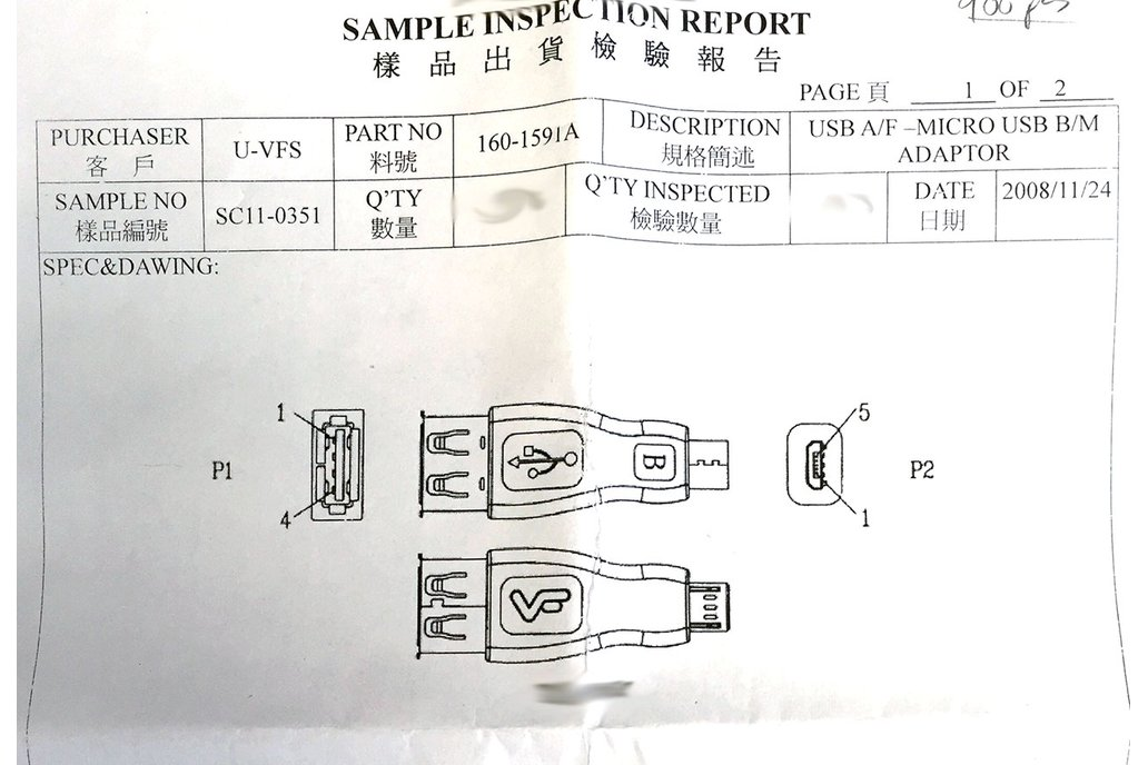 Micro USB-B (Male) to USB-A (Female) Convertor 2