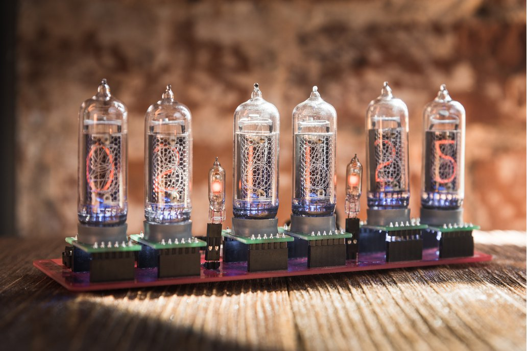IN-14 Nixie tube clock without case 1