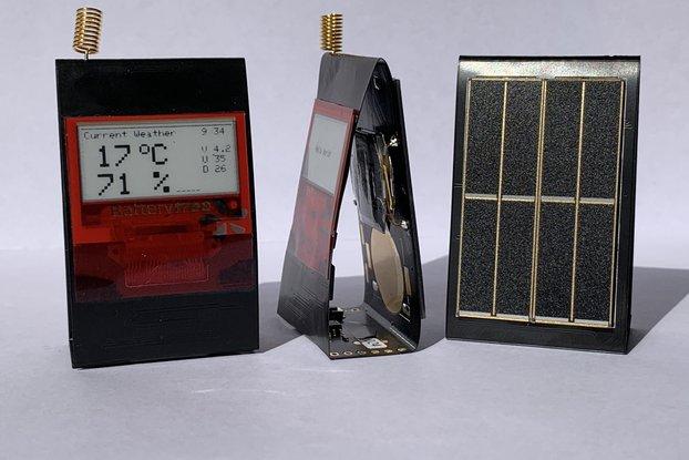 PaperiNode - Solarpowered E-Paper Node for LoRaWAN