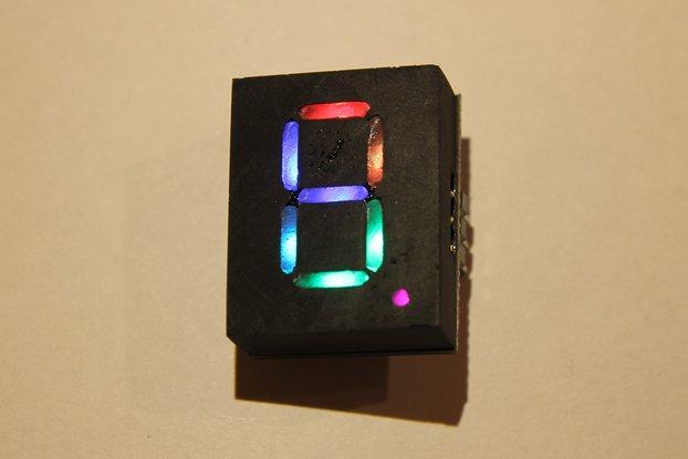 Addressable RGB 7-Segment-Display 20x25mm