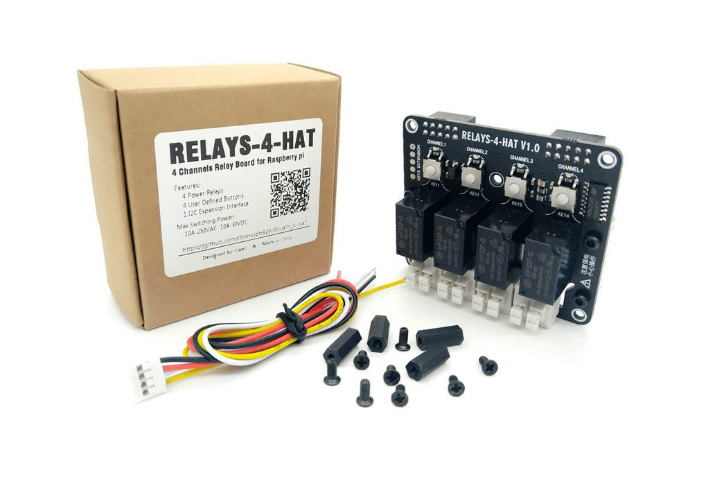 4 Channels Relay Board for Raspberry pi 1
