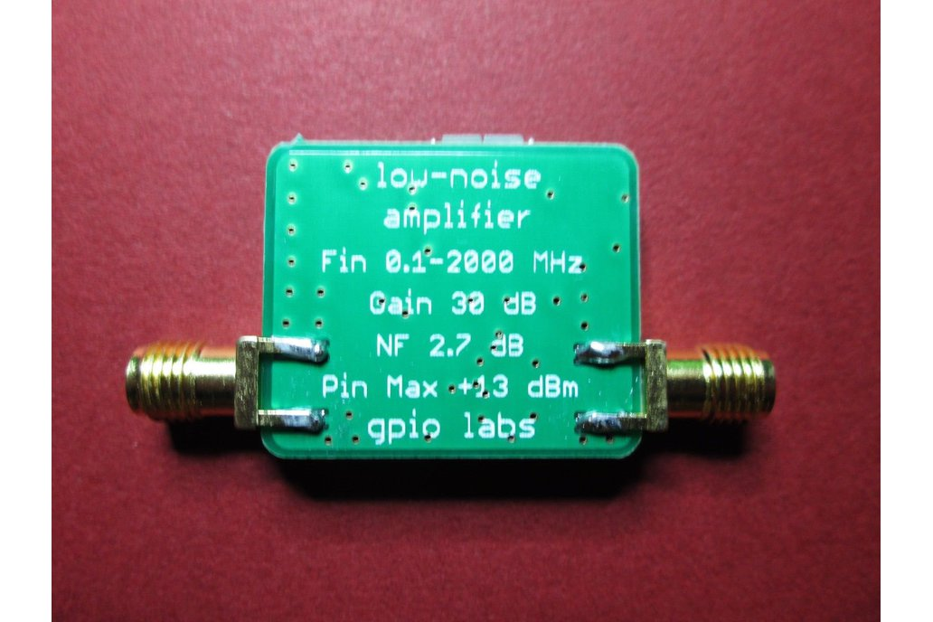 Low Noise Amplifier 100 kHz to 2000 MHz Gain 30dB 4