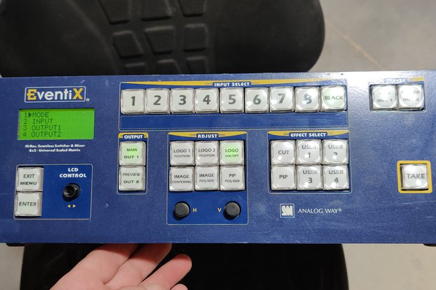 8x2 Scaling Video Switcher and Mixer