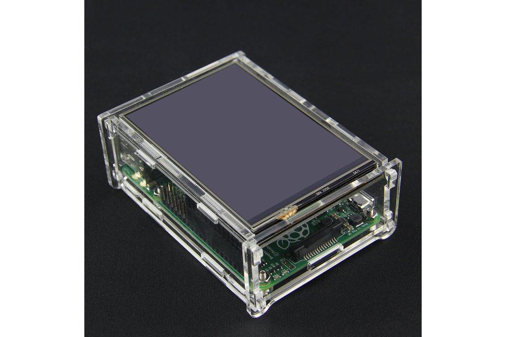 Transparent Acrylic Case TFT Screen Raspberry Pi B 1