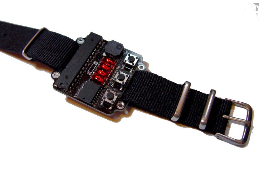 S - Led wristwatch retro QDSP6064 bubble display