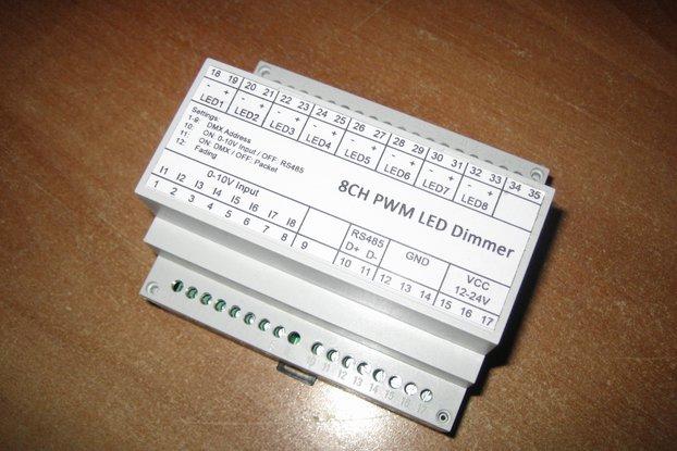 8ch LED dimmer (0-10V, DMX, Modbus)
