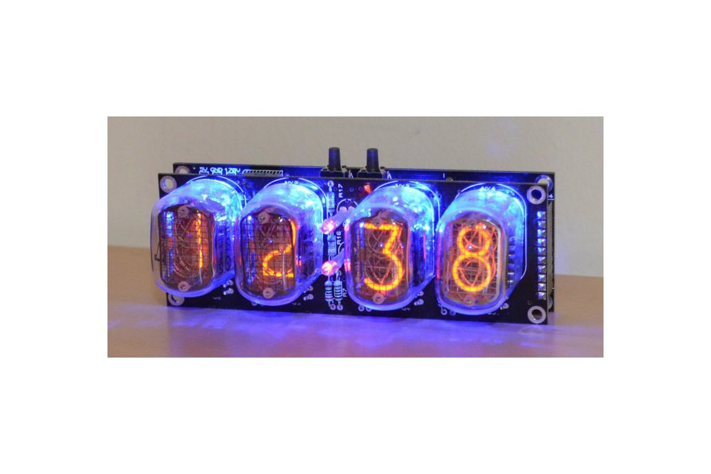 Nixie Tube Clock Kit with IN-12 Tubes 1