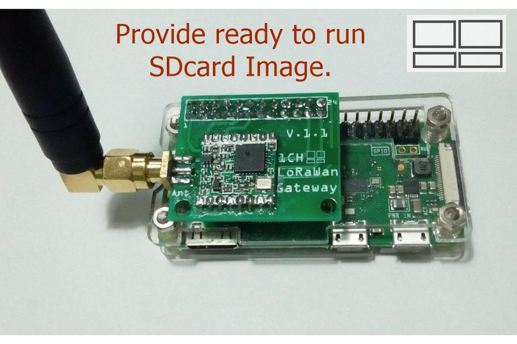 1 Channel LoRaWan Gateway Shield for Raspberry Pi 1