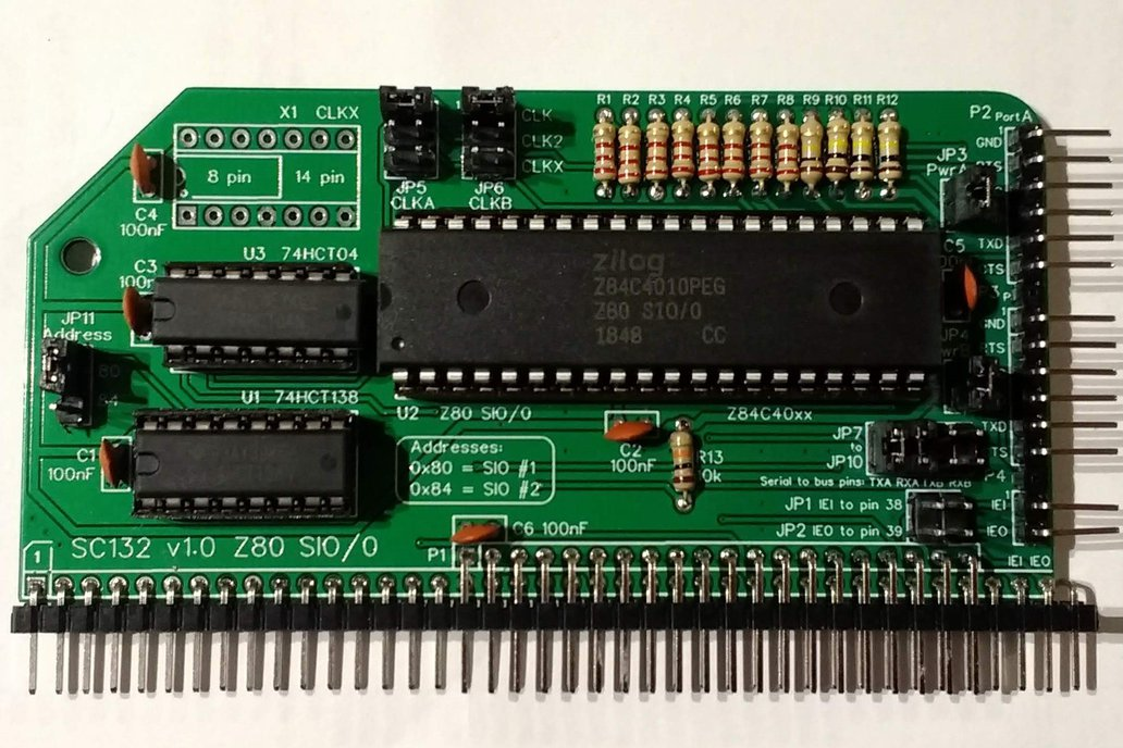 SC132 Z80 SIO/0 Module Kit for RC2014 1