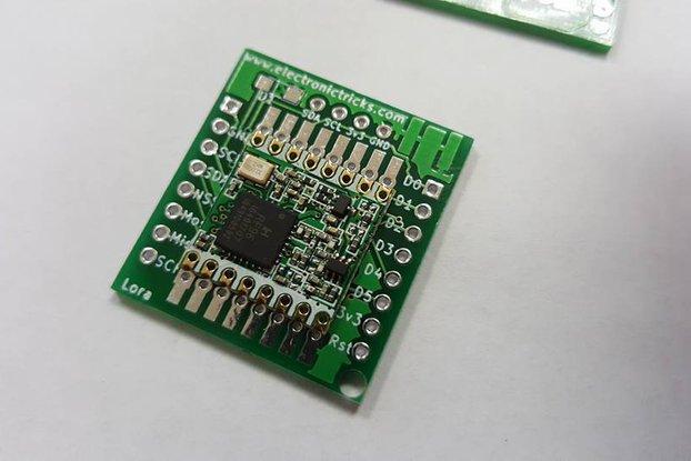RFM95 LORA Breadboard PCB