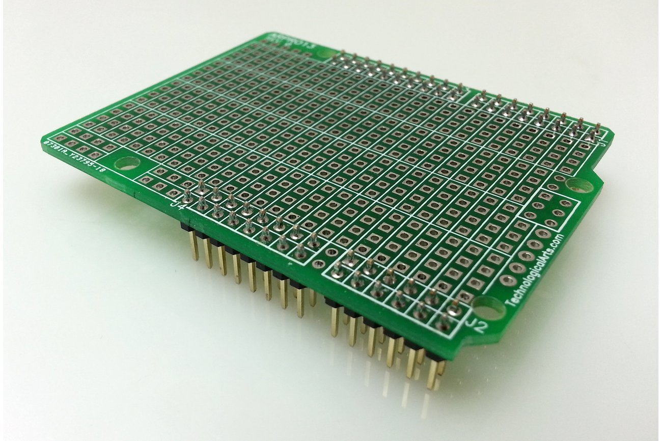 Arduino uno prototyping shield from technological arts