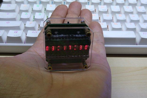Retro Clock with 2 HPDL1414 LED Displays
