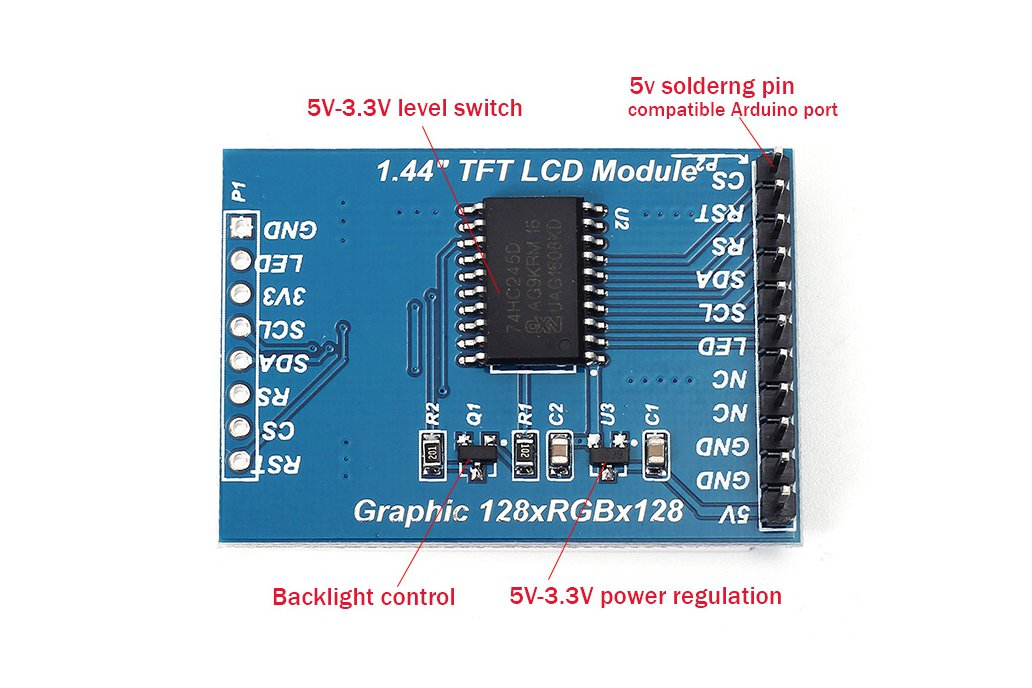 5V TFT 1 44-inch Color LCD for Arduino(8542)