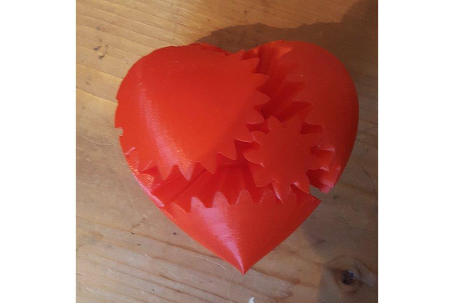 Rotating Heart Gears