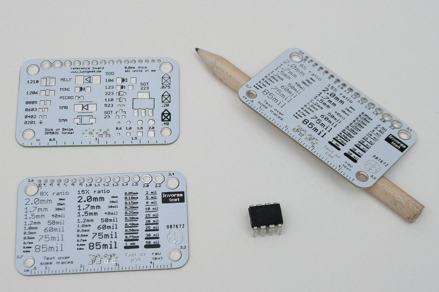Simple silkscreen reference card