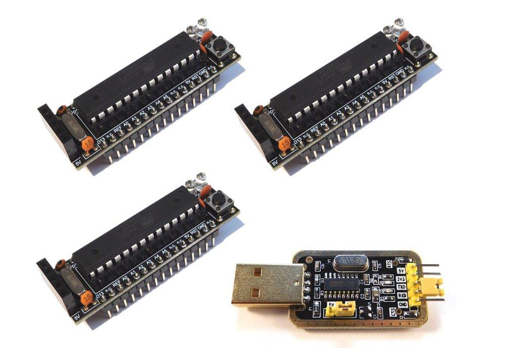 3 x Bread Board Buddy V2 DIY Kit, USB Programmer 1