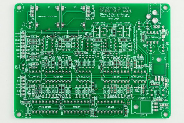Shruthi Old Crow's CS-80 SVF Filter PCB