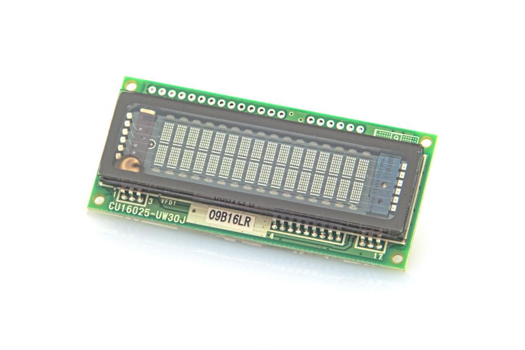 16x2 Serial/Parallel VF Display 1