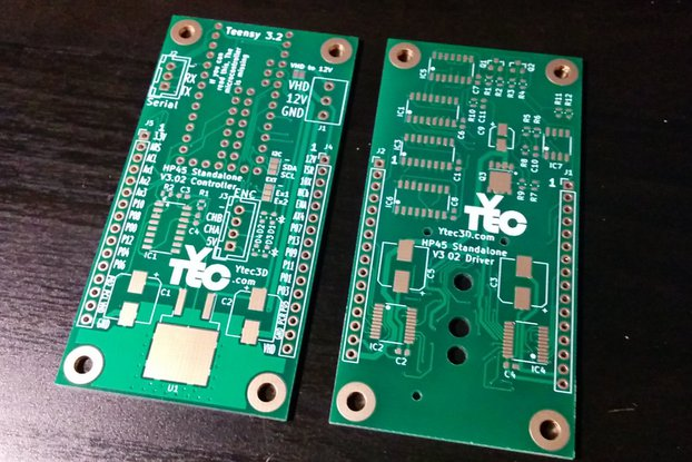 HP45 Standalone controller prototype PCB's