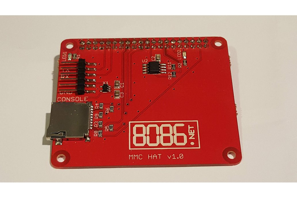 MMC (micro SD) HAT for the Raspberry Pi 1