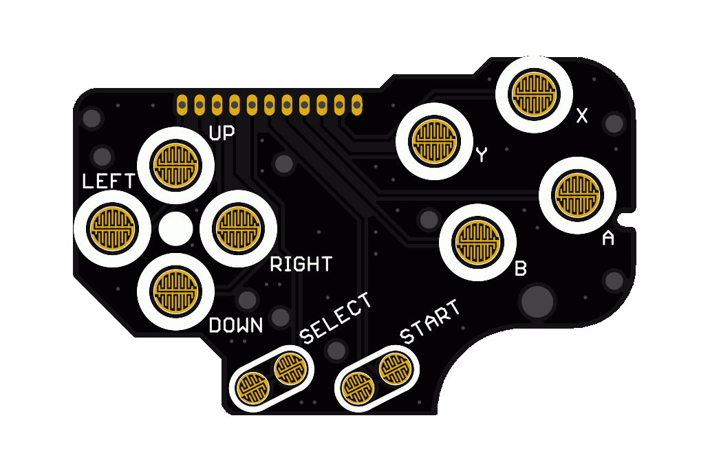 DMG Button Breakout PCB for Game Boy Mods Zero 2
