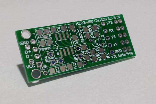 H2O2-USB CH330N 3.3V & 5V PCB Only