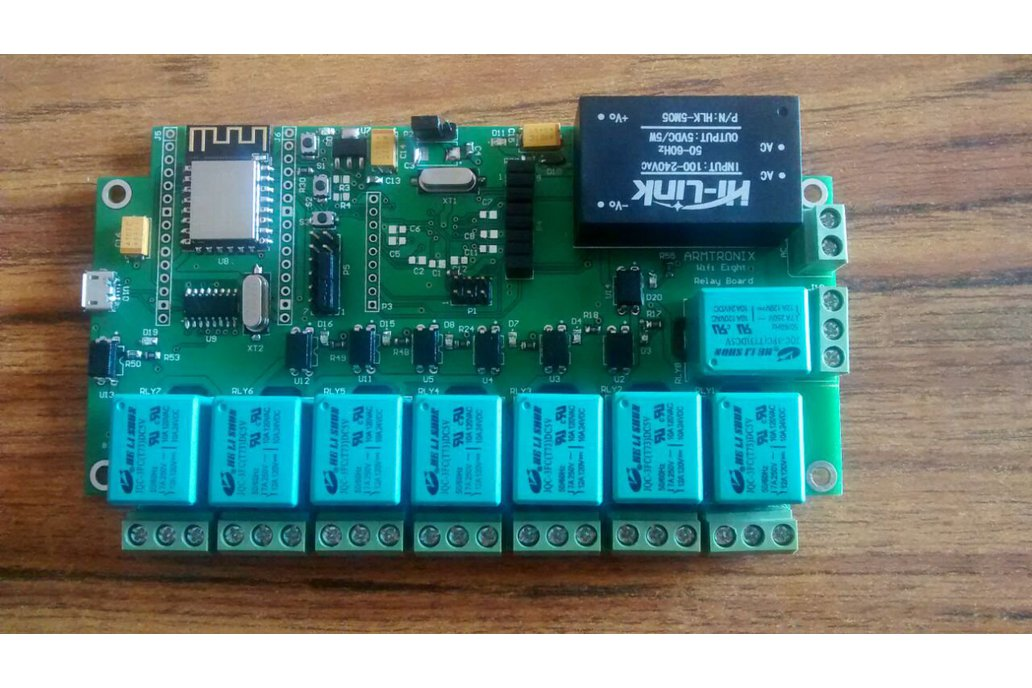 Node MCU ESP12F WIFI board with 8 Relay with case 2