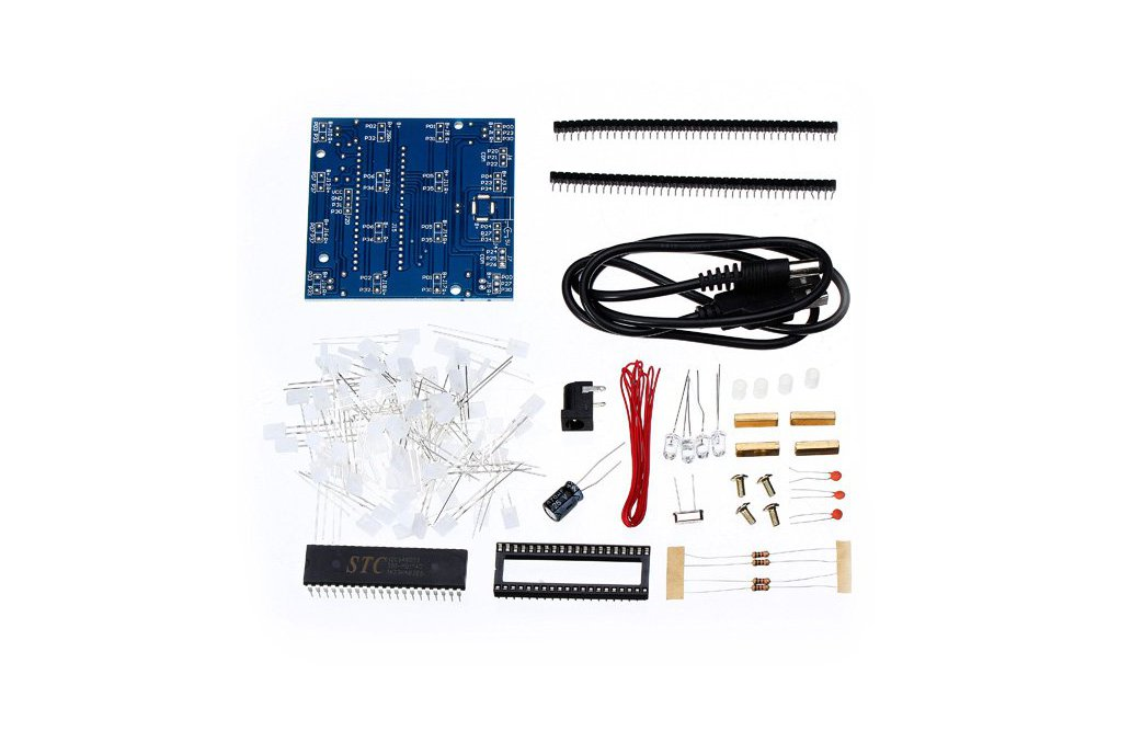 DIY 4x4x4 LED Cube Blue Red LED Electronic Learnin 1