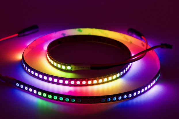 1 meter strip of 144/m SK9822 (APA102) RGB LEDs