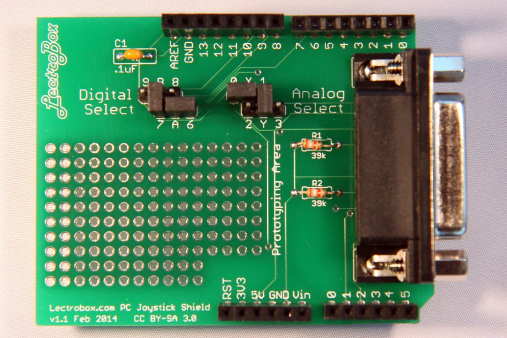 Arduino Joystick Shield for DB15 PC Joysticks 1