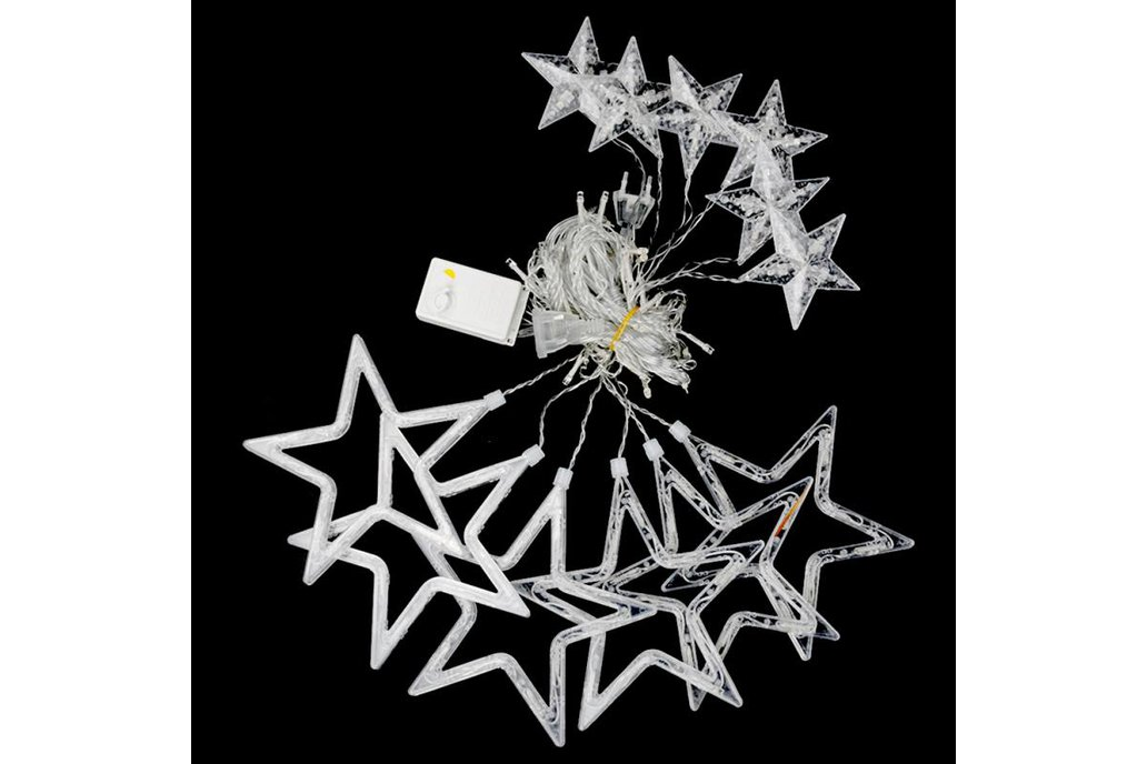 Christmas Lights Fairy Star LED Curtain String 15