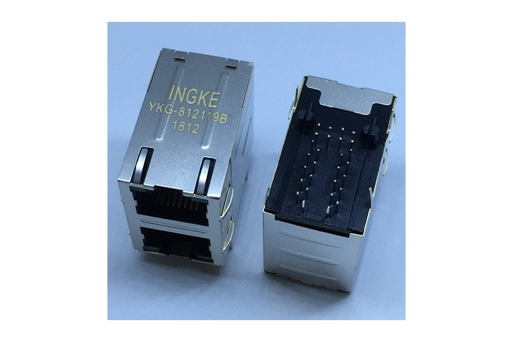 7499151120 2 Port Magnetic RJ45 Modular Connectors 1