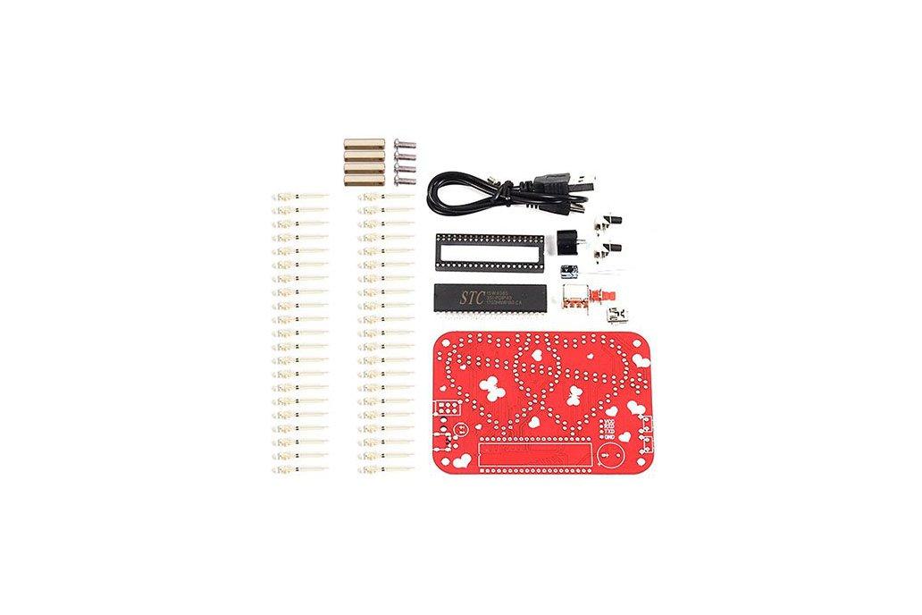 RGB LED Heart-Shaped Flashing Light Kit (13054) 4