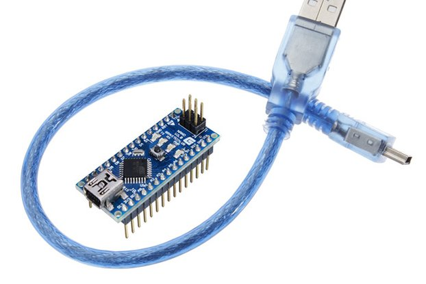 Nano Microcontroller Board With USB Cable