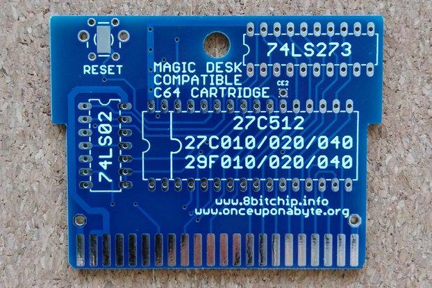 Magic Desk compatible C64 cartridge up to 512k PCB